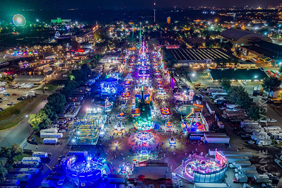 Midway at Night Aerial