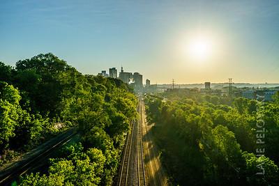 Train Tracks and Sunrise