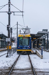 Light Rail bound of Minneapolis