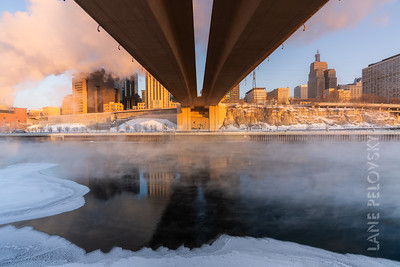 Mississippi Polar Vortex - March 2019 - Wabasha Bridge