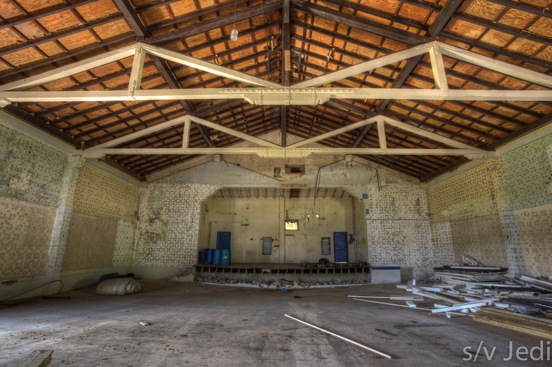 Inside the theatre of Fort Sherman. - Inside the abandoned theatre of Fort Sherman, Colon, Panama. Ft Sherman was a US Army base to protect the Panama Canal. HDR version.