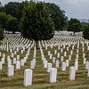 Arlington - Rows and rows of white grave markers at Arlington Cemetery, Washington, DC