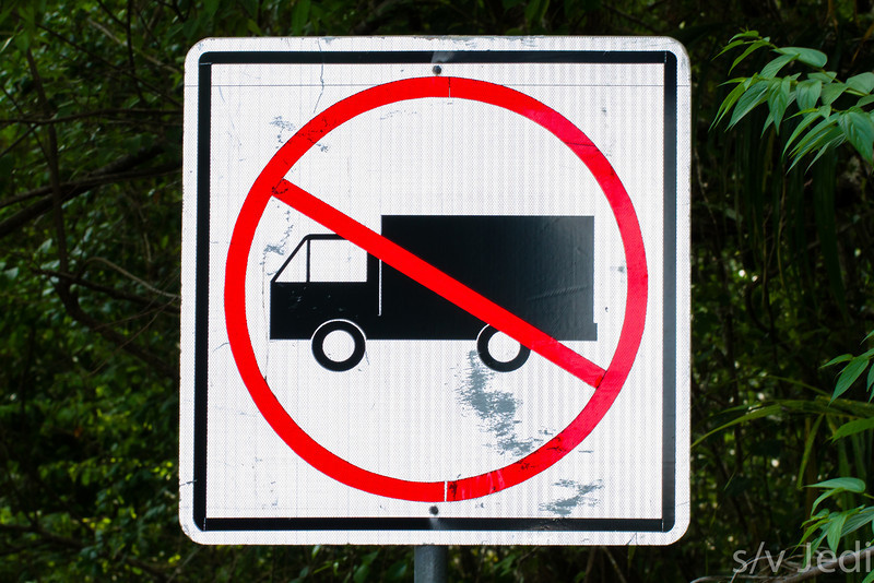 No trucks and lorries allowed.