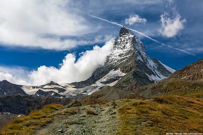 Clouds climbing the Matterhorn