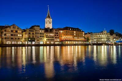 Blue hour in Zurich