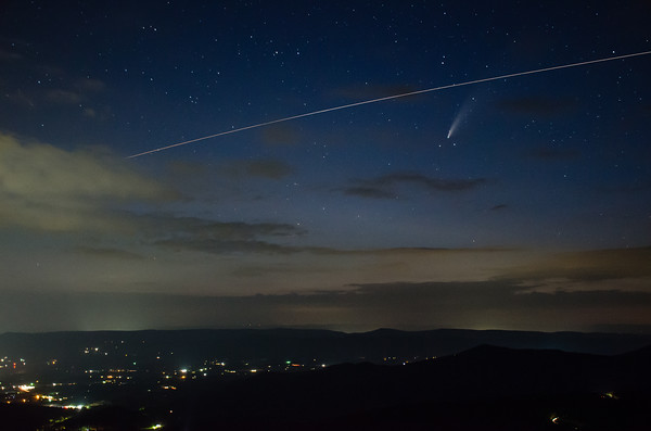 ISS & Comet Over Luray (Redux)