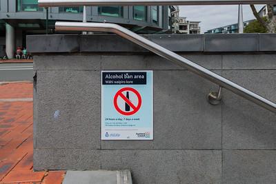 Alcohol ban area