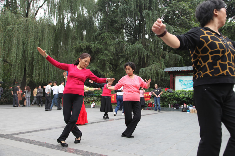 One of the other, very popular activities in the People's Park, dancing (of all kinds).