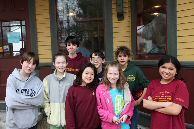 Left to right: Cy, Angie, Ben, Hailey, Adrian, Tina, Alana, Kayla