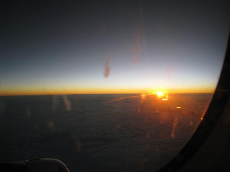 Sunrise over Central America