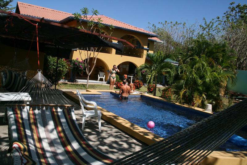 The Playa Grande marine station, back yard