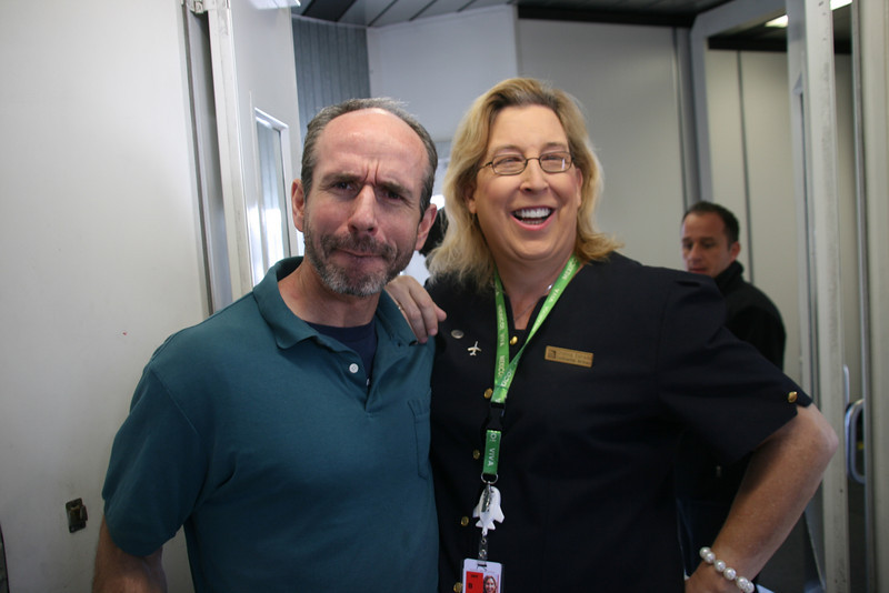 Someone who asked Steve to be in one of his photos<br /> (plus some random check-in lady at Logan)