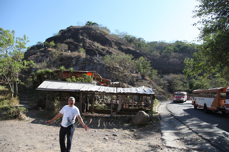 My taxi-tour guide, Amarillo Martinez, at the base of Puerto del Diablo