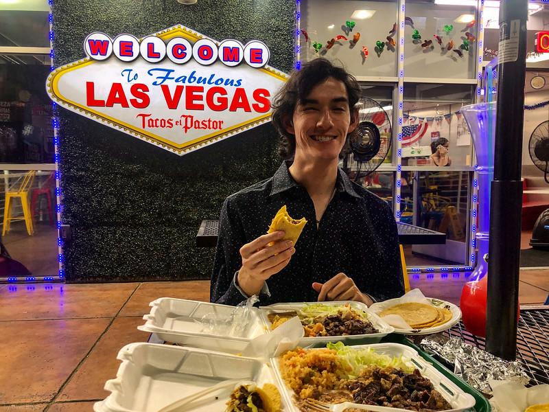 Tacos el Pastor, on the strip, Las Vegas, NV