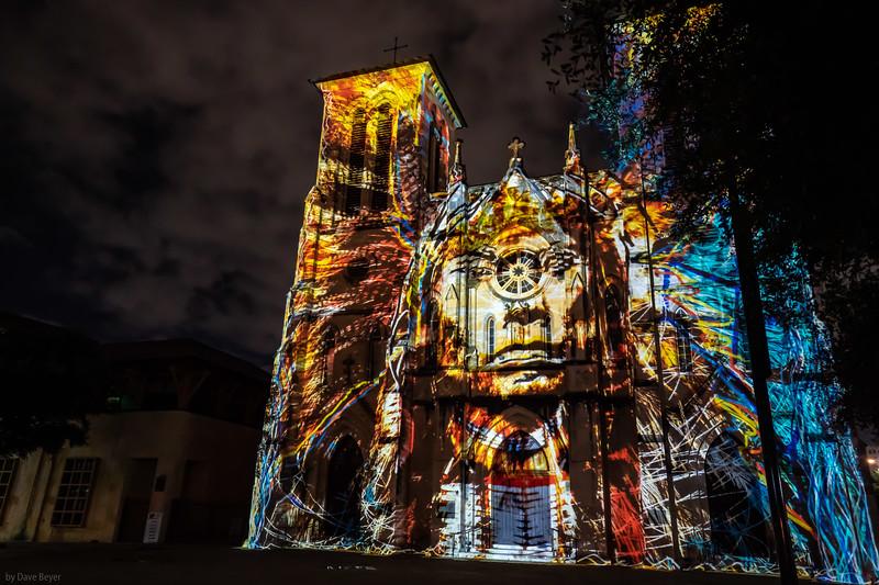 Fernando Cathedral light show, San Antonio, TX
