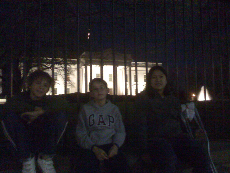 The White House, night before the Easter egg hunt (iphone pic)