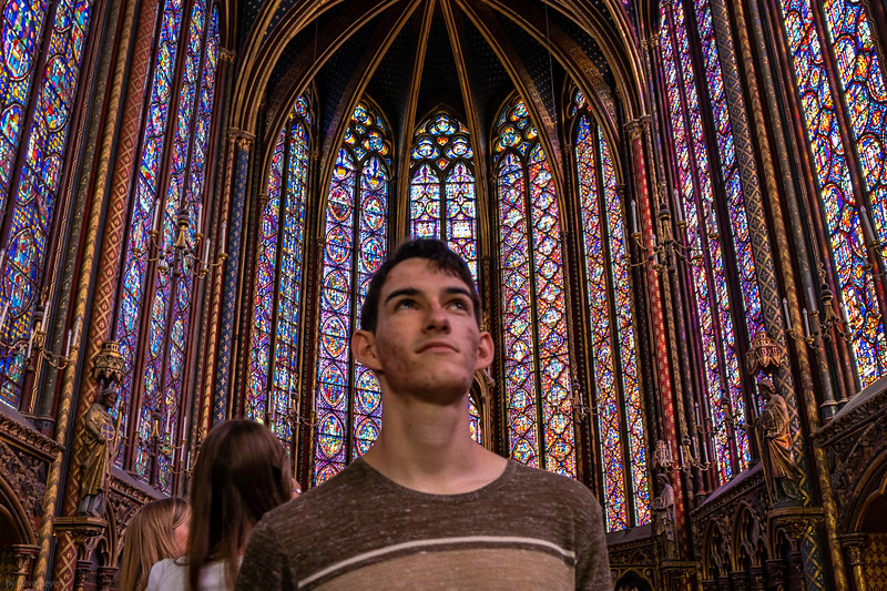 Adrian at Sainte Chapelle, Paris
