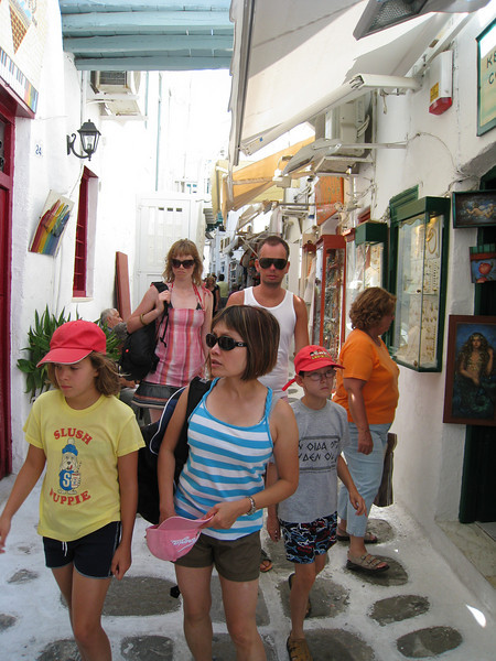 Amidst the maze of alleyways in Mykonos