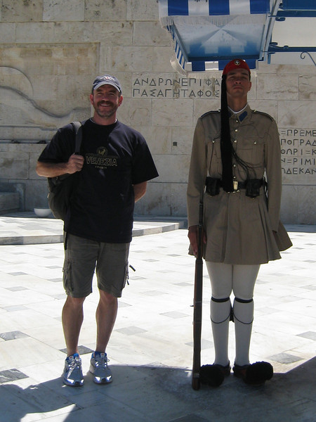 Athens guard.   <br /> Where can I get a pair of those style'n shoes??
