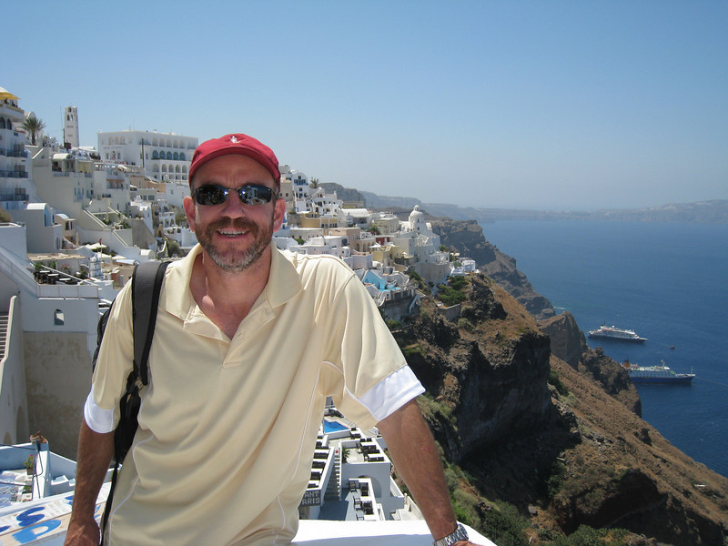 Santorini, looking back down to the Aegean.