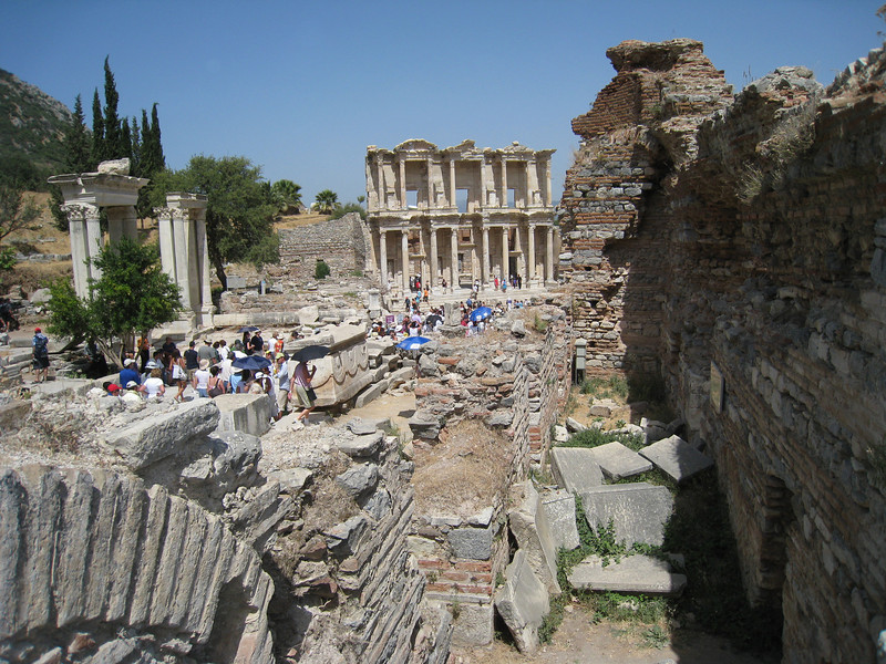 Down a main boulevard of Ephesus.