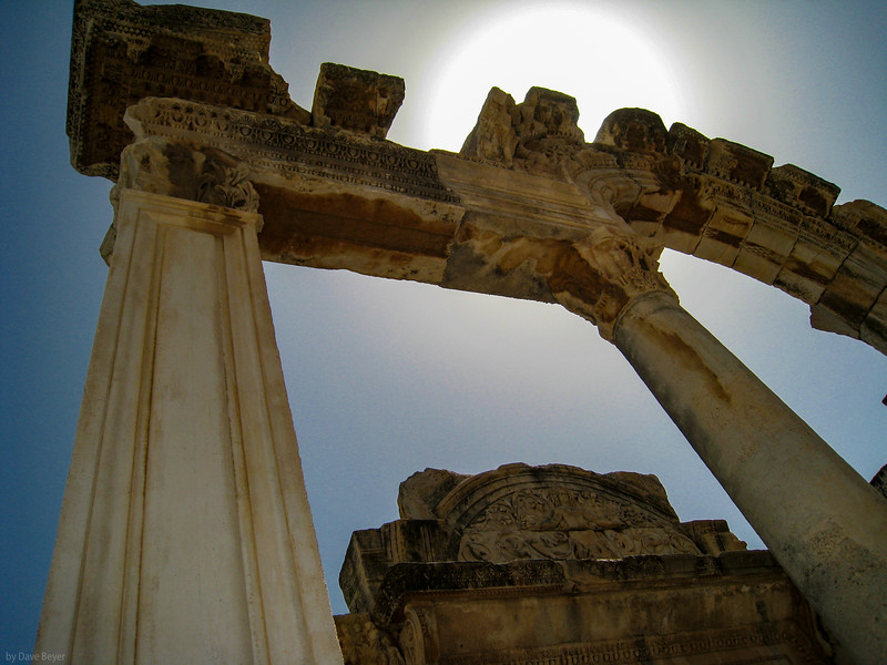 """Ruins at the great, 3000-year-old city of Ephesus, <br /> a major capital city of """"Asia Minor"""" for the Roman Empire."""