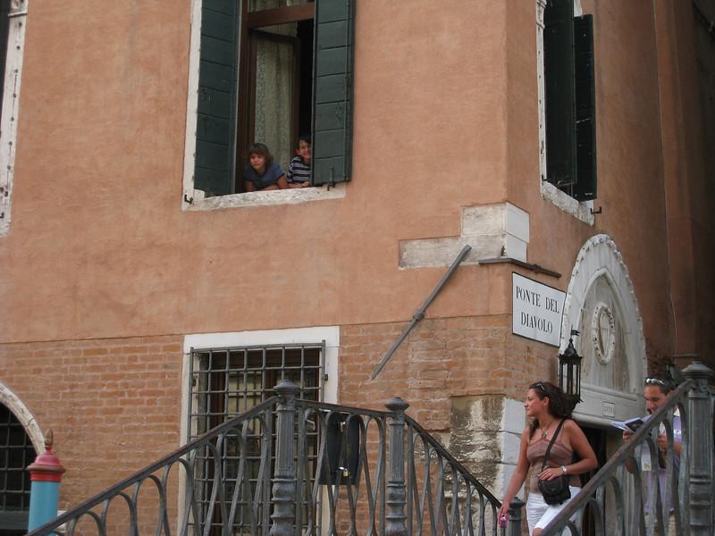A&A in our hotel room at Ponte Del Diavolo (Diavolo Bridge)