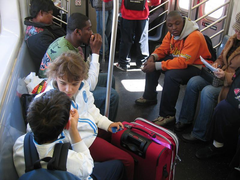 Mad dash through the subways to our Chinatown Bus (Lucky Star) to Boston