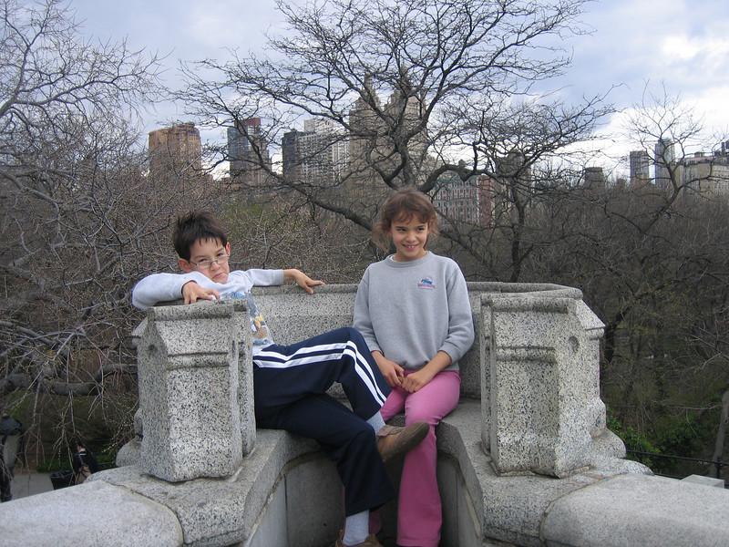 At the castle in Central Park (old lookout, now a meterological station)