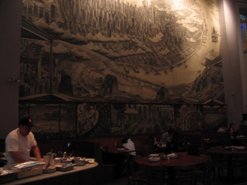 Inside the church-turned-Pizzeria near Times Sq.