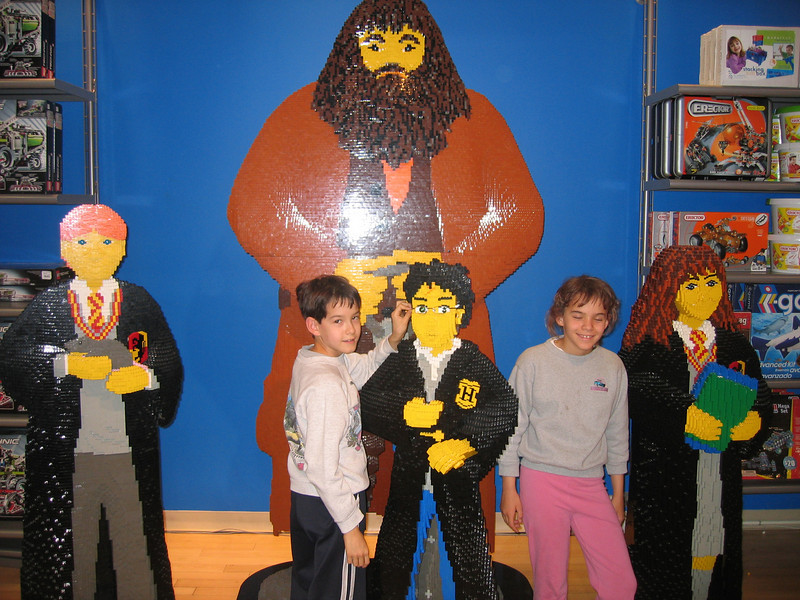 Harry Potter made of lego, in FAO Schwartz