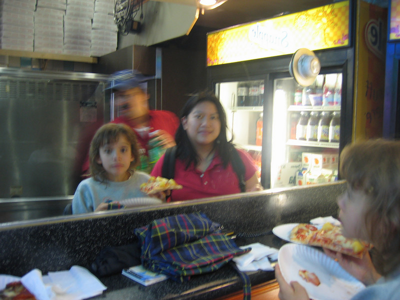 Grabbing a slice in Times Square