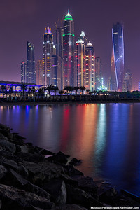 Towers at night