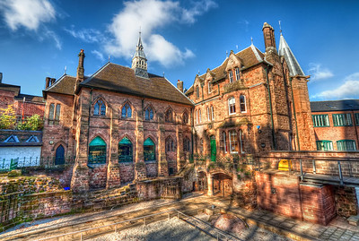 Small Castles   I think I mentioned it before, but I really like the old houses you can find in UK. This is another shot from the center of Coventry. You wouldn't believe that this was taken at the end of October. It was such a lovely sunny day.   HDR from three shots, taken with Canon 450D with Sigma 10-20mm lens, handheld.