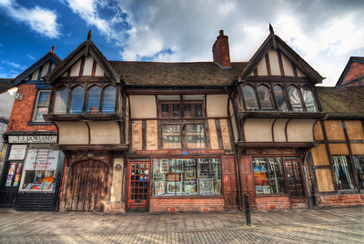 Slanted House  I took this shot while walking around in Coventry, UK. I really like all the detail in this house. And the strange look, because it's not standing straight :)  HDR from three shots, taken with Canon 450D with Sigma 10-20mm lens, handheld.