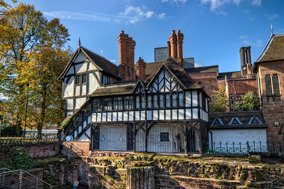 In Coventry  This is what I like the most in the UK. All the old houses, which are absolutely beautiful :). This shot was taken at Coventry city center.  HDR from three shots, taken with Canon 450D with Sigma 10-20mm, handheld.