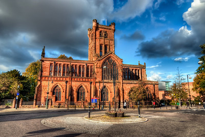 St John's Parish Church  Another shot from Coventry, UK. HDR from three shots, taken with Canon 450D with Sigma 10-20mm lens, handheld.