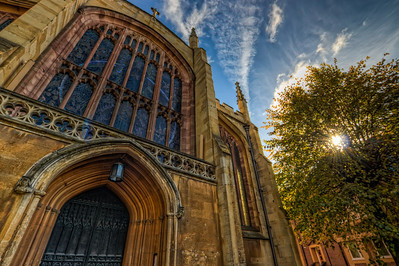 Holy Trinity Church  The Holy Trinity Church in Coventry Uk. To bad I didn't have my tripod with me, but i think it came out quite nicely.  HDR from three shots, taken with Canon 450D with Sigma 10-20mm lens, handheld.
