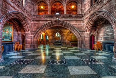 Shiny floor in the Lady Chapel  I still have few unpublished photos from the Liverpool Cathedral, and here is one of them.   HDR from three shots, taken with Canon 450D with Sigma 10-20mm lens, from a tripod.