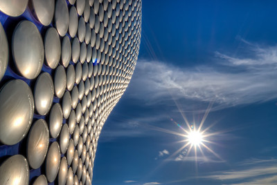Selfridges  Back home after a week. Back from Birmingham, UK :). Trying to catch up. Had quite luck for weather, so I took a lot of photos. Starting with one of the Selfridges building.  HDR from three shots, taken with Canon 450D with Sigma 10-20mm lens, handheld.