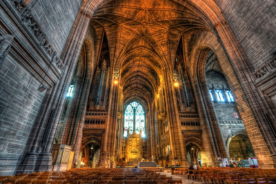 More from Liverpool Cathedral  I really regret I didn't take more exposure than three. Anybody working at Canon? We need more than three shots on AEB :). Well I always learn from my mistakes. Next time I take at least nine :)  HDR from three shots, taken with Canon 450D with Sigma 10-20mm lens, from a tripod. Photo taken at the Liverpool Cathedra in Liverpool.