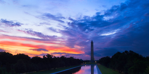 Sunrise over Washington Monument