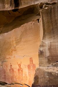 Barrier Canyon Style anthropomorphs, Thompson Springs Canyon, Utah