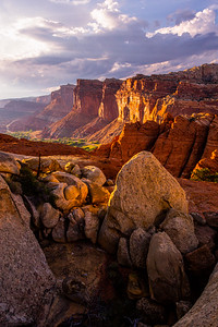 Capitol Reef National Park landscape before monsoon, Wayne County, Utah