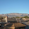 The Sandia Mountains with 3255m elevation seen from my temporary home in Albuquerque at 1500m.