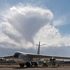 "B52D with its 56m wingspan in the backyard of the National Museum of Nuclear Science & History, Albuquerque, NM.<br><br>I'm wondering about the possible climb rate in the cloud behind, especially with its two ""interesting"" spikes below.<br><br>This photo is for neutral representation of history only and has no symbolic meaning and no further interpretation should be done on the fact it is shown here."