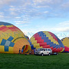 Approximately 50 balloons launched during the Albuquerque Aloft Friday, September 30, 2016 at Albuquerque Balloon Fiesta Park. Many pilots who are registered for Balloon Fiesta sign up to participate in the event. In addition pilots tether or launch their balloons from selected school grounds in Albuquerque and Rio Rancho on the Friday morning before Balloon Fiesta. Albuquerque Aloft has grown since the first event in 2005, and continues to bring the joy of ballooning directly to children in their school playgrounds. It is a great way to kick off the beginning of the nine days of Balloon Fiesta, which opens Saturday at 6:00 a.m. with the Dawn Patrol Show. Clyde Mueller/The New Mexican