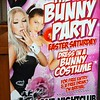 Poster for a bunny party in a nightclub in Albury, NSW in April 2017