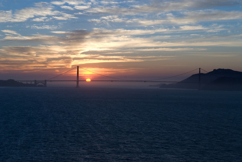 Sunset View from Roof of Alcatraz