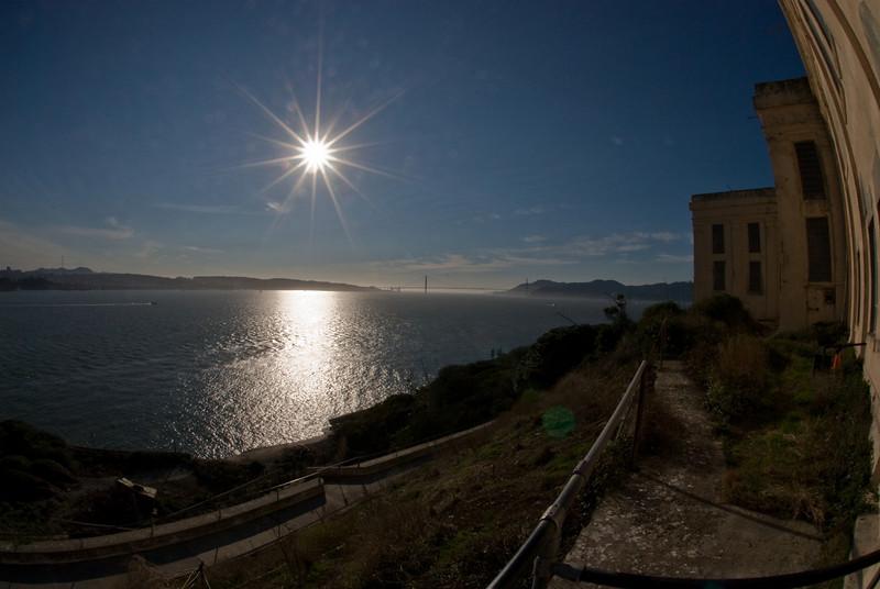 View of Golden Gate Bridge from Alcatraz